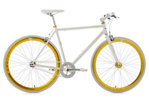 Fixie Bike KS Cycling Pegado Singlespeed gold weiß 28""