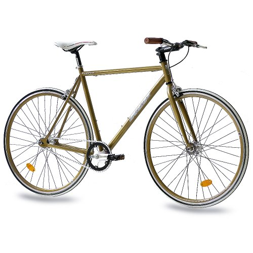"Fixie Bike KCP FG-1 gold Fixed Gear 28"""