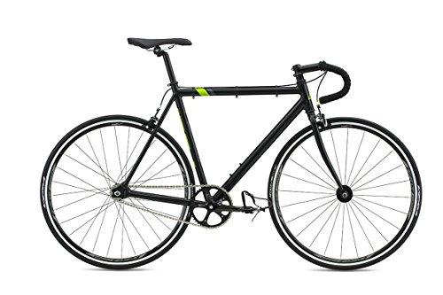 "Fuji Track Fixed Gear Bike Singlespeed Schwarz/Lime 28"""
