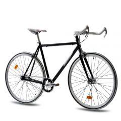 Fixed Gear Bike KCP FG-1 schwarz Bullhorn fixie bike 28