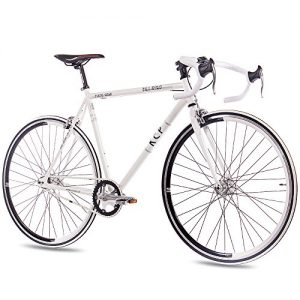 "Retro Fixie Bike KCP FG-1 Road weiß Rennlenker 28"""