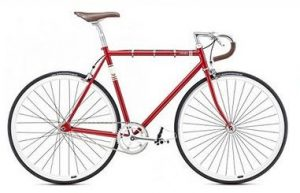 singlespeed fuji feather rot fixie bike urban bike 28 zoll. Black Bedroom Furniture Sets. Home Design Ideas