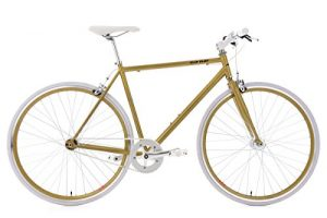 Singlespeed KS Cycling Flip Flop Gold Weiß Fixie 28""