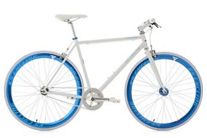 Singlespeed KS Cycling Pegado Fixie Weiß Blau 28""