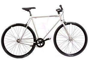 Fixed Gear Bike KHE FX02 Silber Chrome