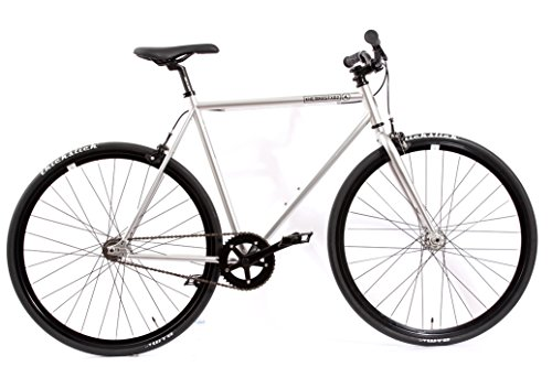 Fixed Gear Bike KHE FX02 Silber Chrome