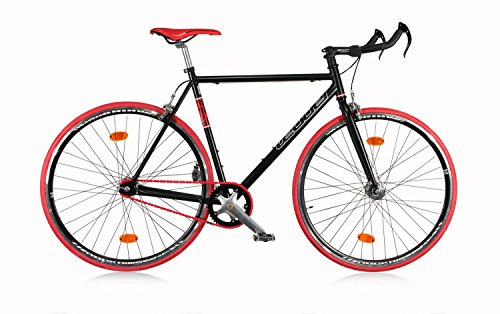 Fixie Bike Leader FF3 Singlespeed Schwarz