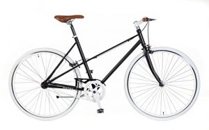 Damen Fixie Bike Popal Schwarz Singlespeed Ladies 28 Zoll