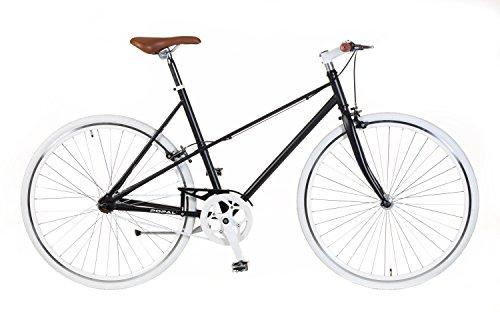 Damen Fixie Bike Popal Schwarz Singlespeed Ladies 28 Zoll