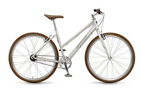 Damen Fixie Winora Alan Scotschbrite Urbanbike Silber 28