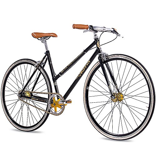 Fixed Gear Bike Chrisson FGS CrMo Lady schwarz Damen Fixie