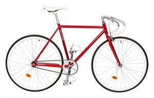 Singlespeed Critical Cycles Classic Pista Drop Bar Purpur Fixie
