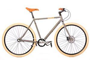 Fixie Bike Leader Dominator grau
