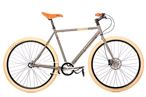 Fixie Bike Leader Dominator grau