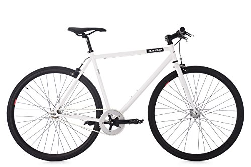 Fixed Gear Bike KS Cycling Flip Flop Fixie Weiß 28""