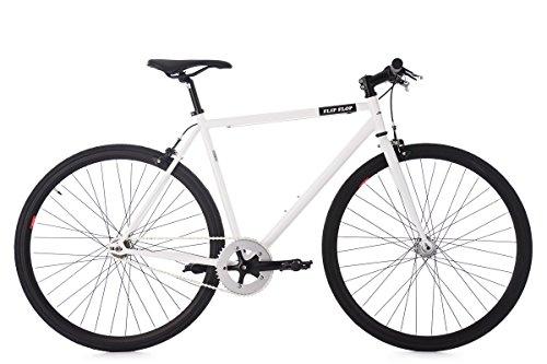 "Fixed Gear Bike KS Cycling Flip Flop Fixie Weiß 28"""