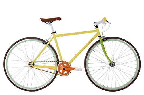 Fixie Bike KS Cycling Essence gelb Singlespeed