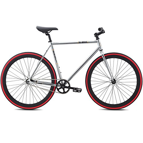 Fixie Bike SE Bikes Draft Silber Urban Singlespeed