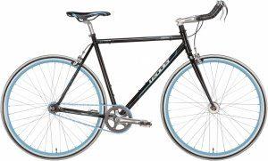 Fixed Gear Bike Leader Hero schwarz Bullhorn Fixie black