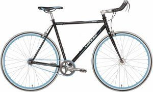 Fixed Gear Bike Leader Hero schwarz Bullhorn Fixie black