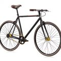 Fixie Tretwerk Ace of Spades schwarz 2-Gang Singlespeed 28""