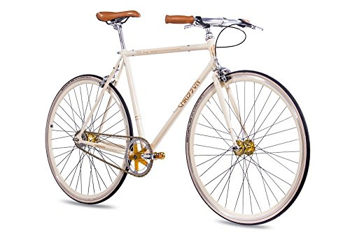Fixie Bike Chrisson Vintage 2G Creme im Singlespeed und Fixie Test 2019