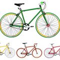 Fixie Bike Micargi grün Singlespeed green